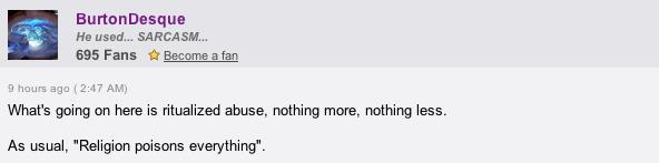Huffington Post Comment