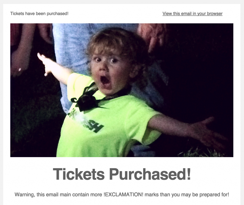 Tickets Purchased!  Click here to read this newsletter.